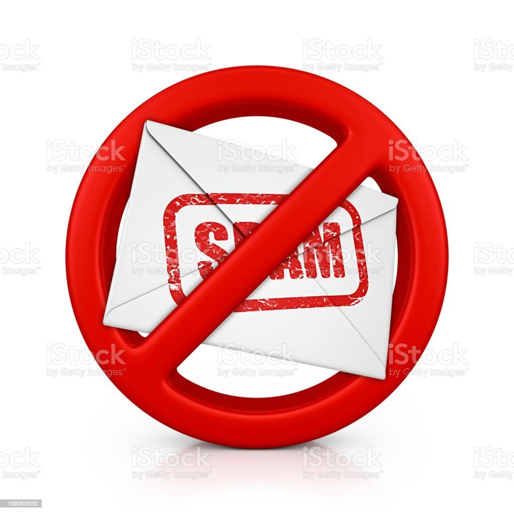 no spam royalty-free stock photo