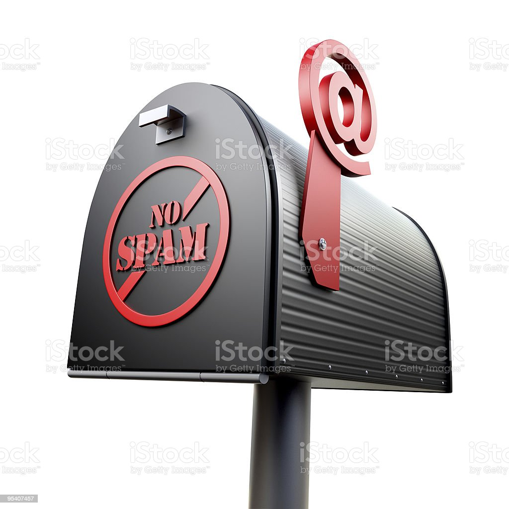 No spam royalty-free stock photo