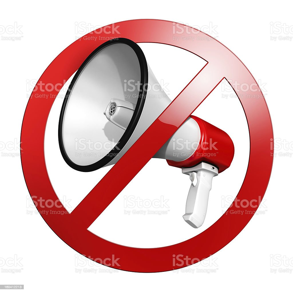 No speak sign or keep quiet royalty-free stock photo