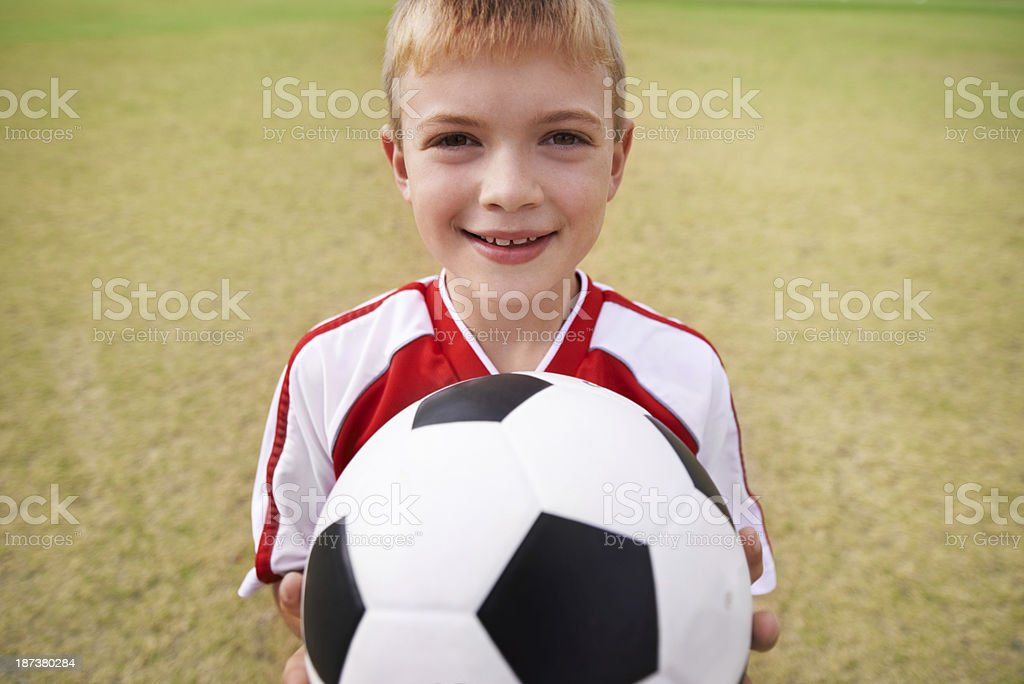 No sport better than soccer! royalty-free stock photo