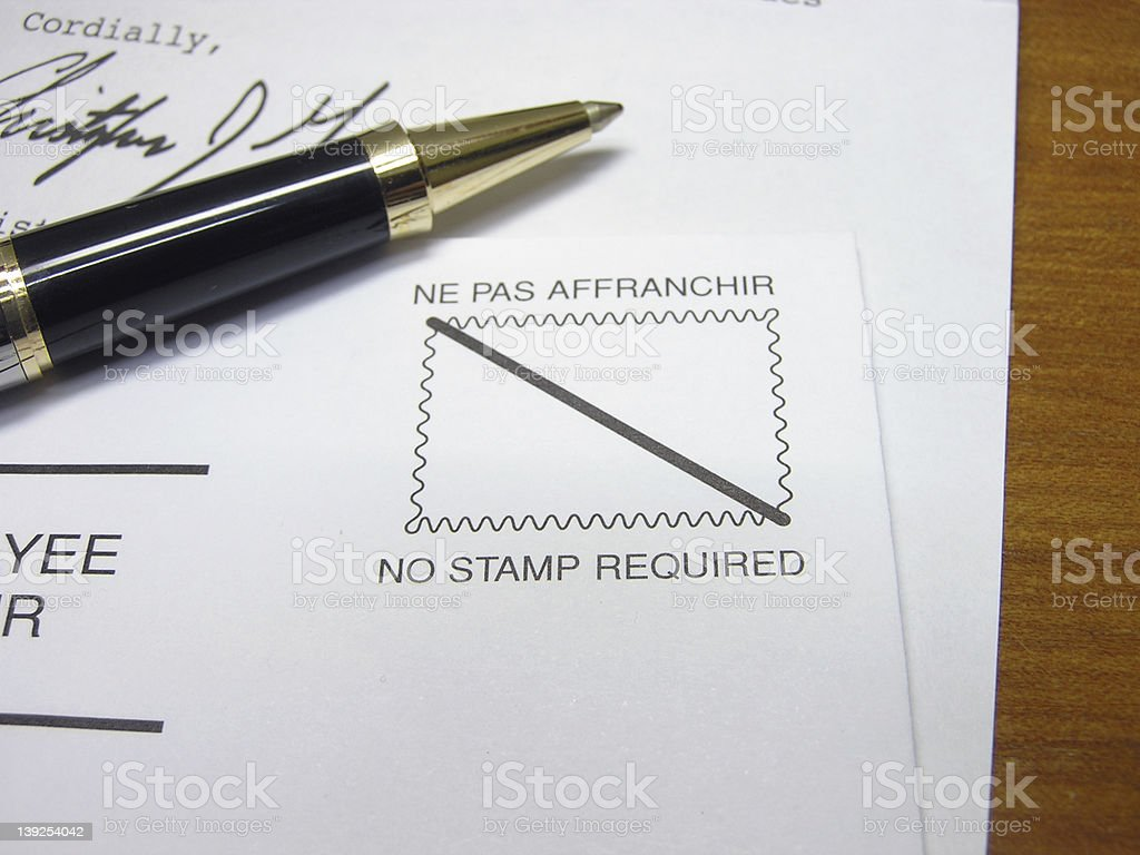 No Stamp Required stock photo