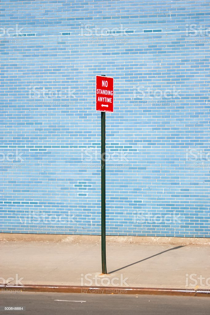 No standing anytime sign stock photo