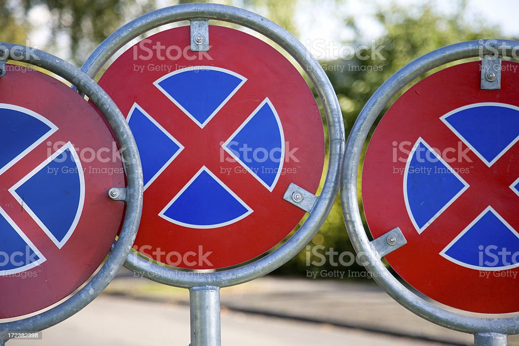 No stopping or parking stock photo