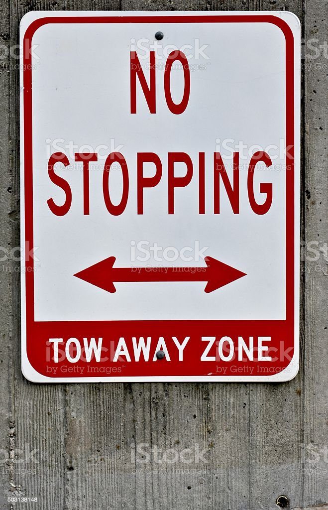 No stoppping sign stock photo