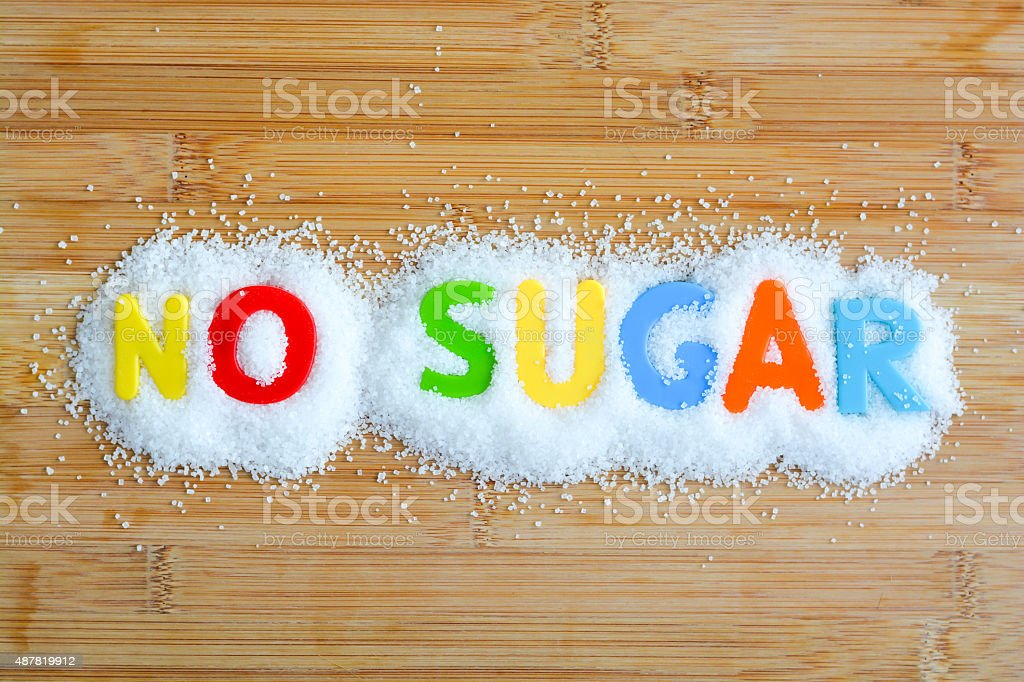 No sugar diet for a healthy lifestyle stock photo