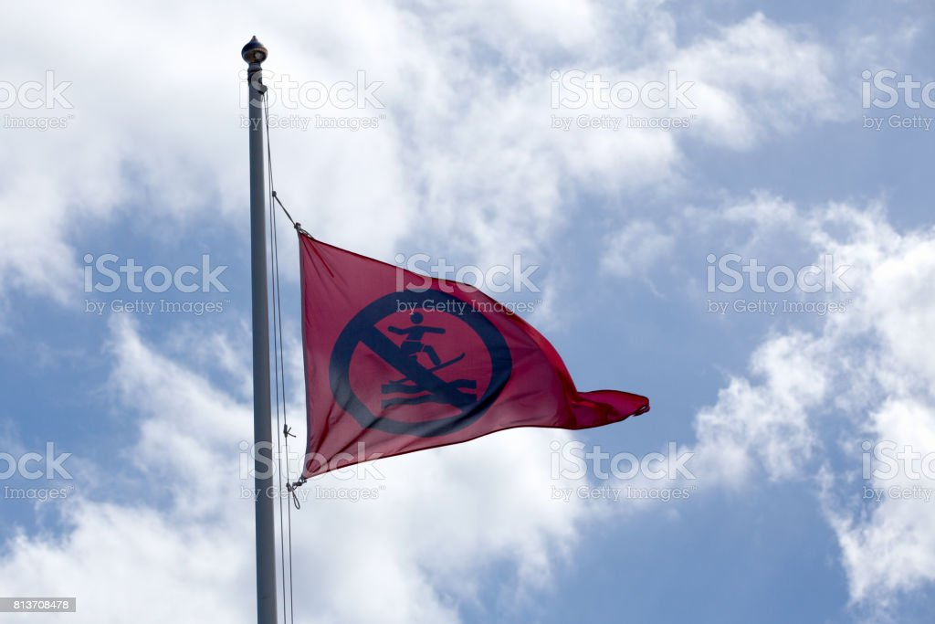 No surfing flag stock photo