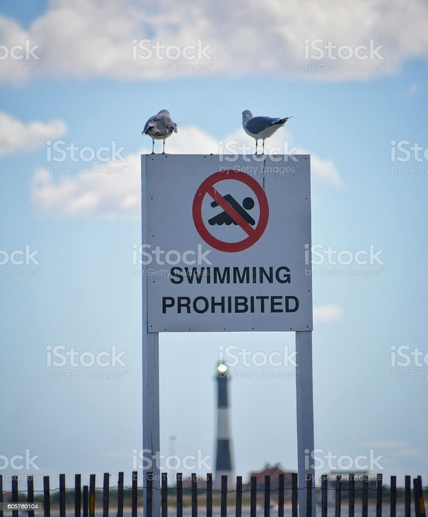 No Swimming! stock photo