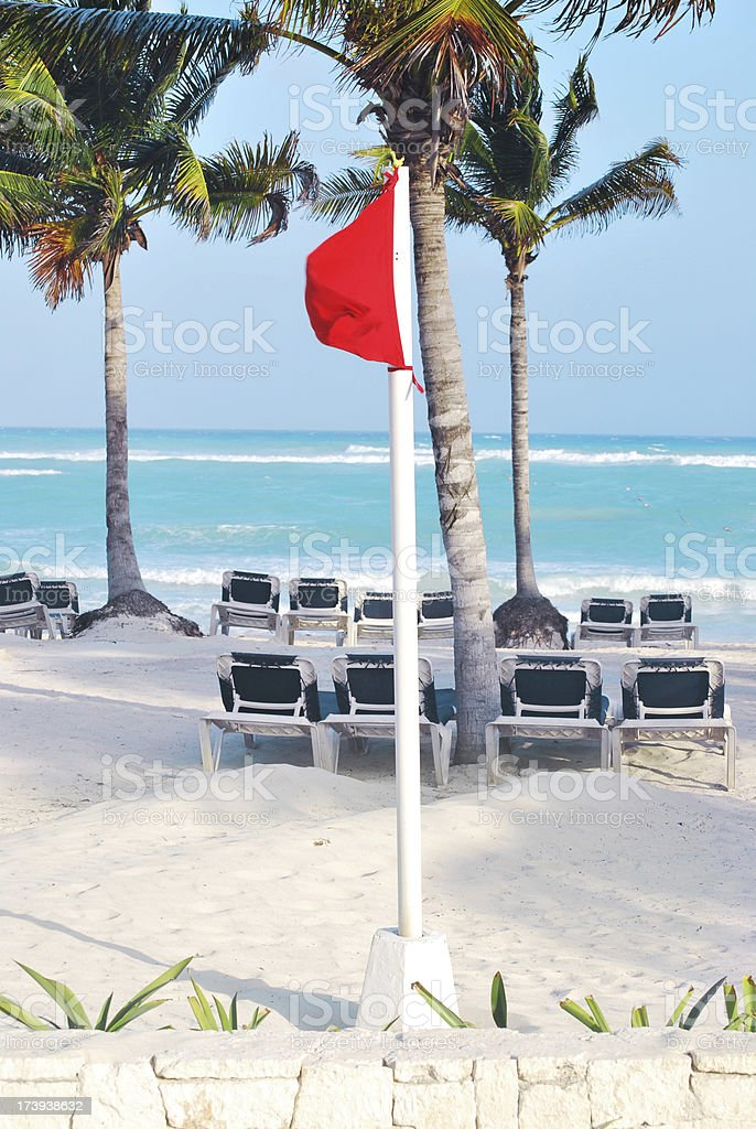 No swimming red flag stock photo