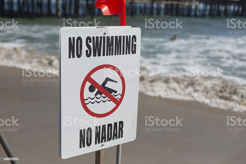 No Swimming Sign royalty-free stock photo