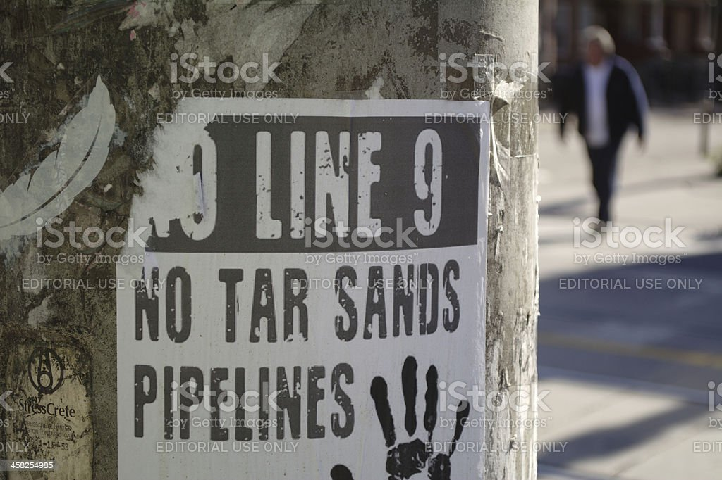 No Tar Sands/Pipelines stock photo