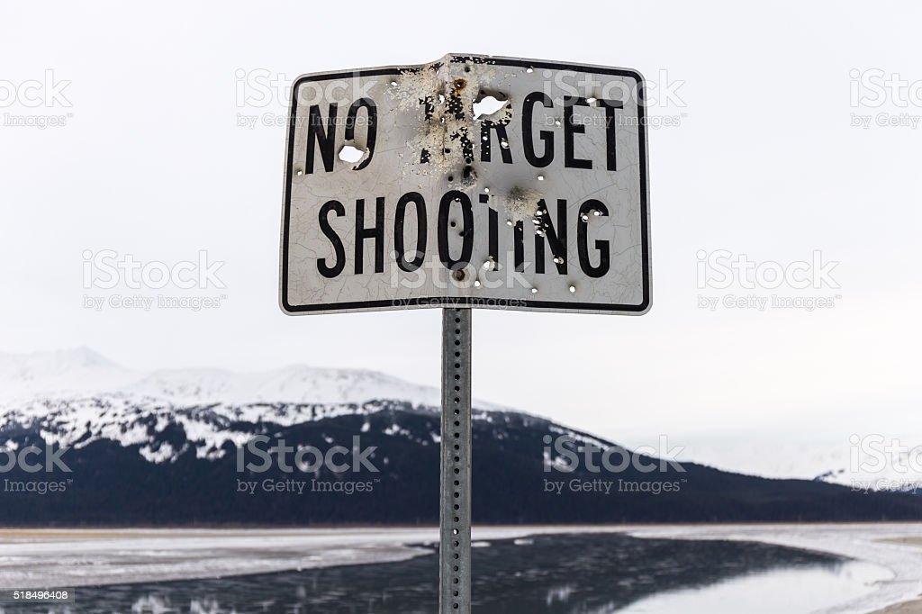 No Target Shooting stock photo