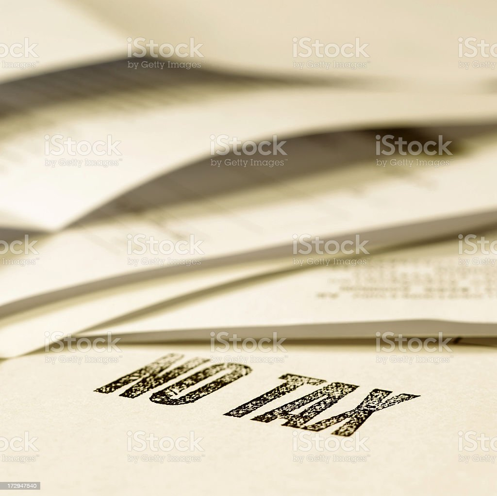 No Tax stamp royalty-free stock photo