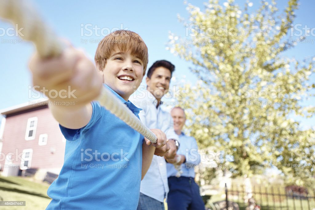 No team is stronger than a family one! royalty-free stock photo