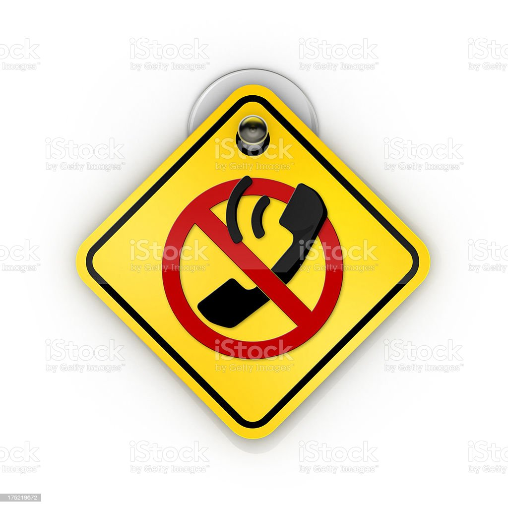 No telephone allowed Sticky warning stock photo
