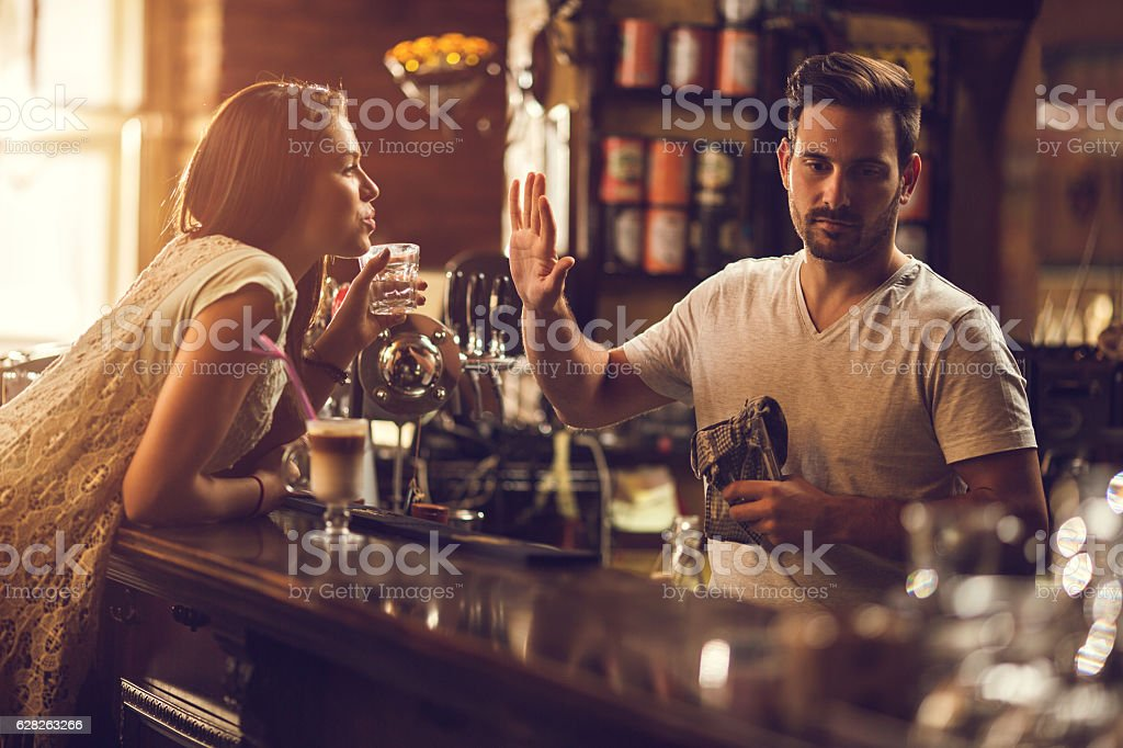 No thanks, you are to drunk! stock photo