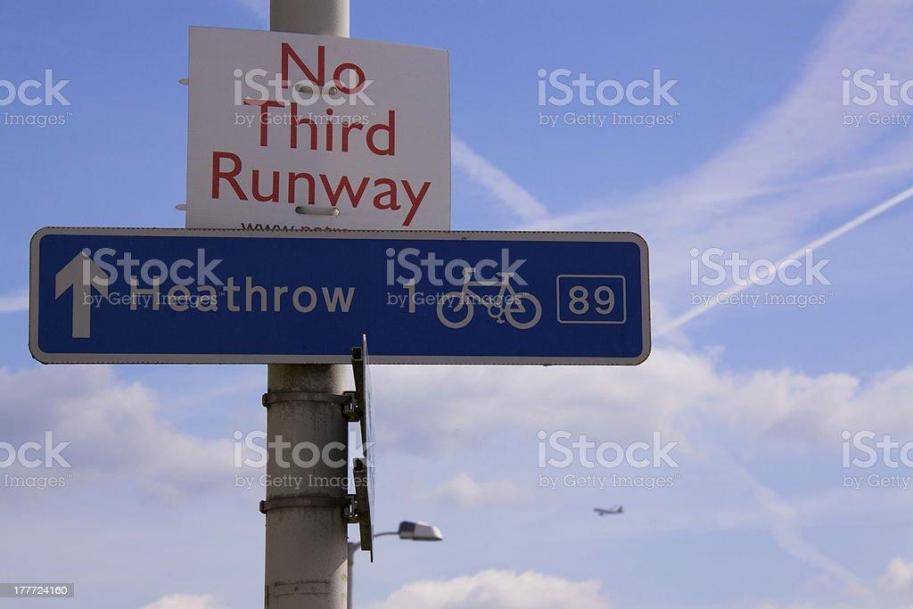No third runway on Heathrow stock photo