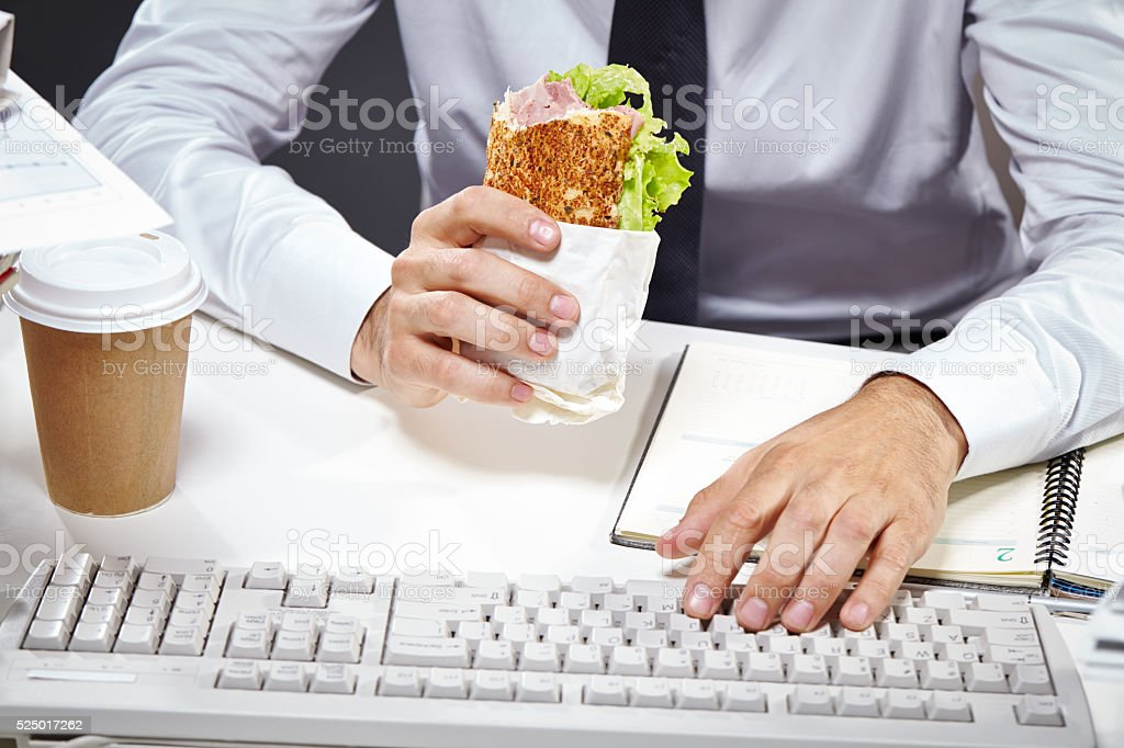 No time for lunch stock photo