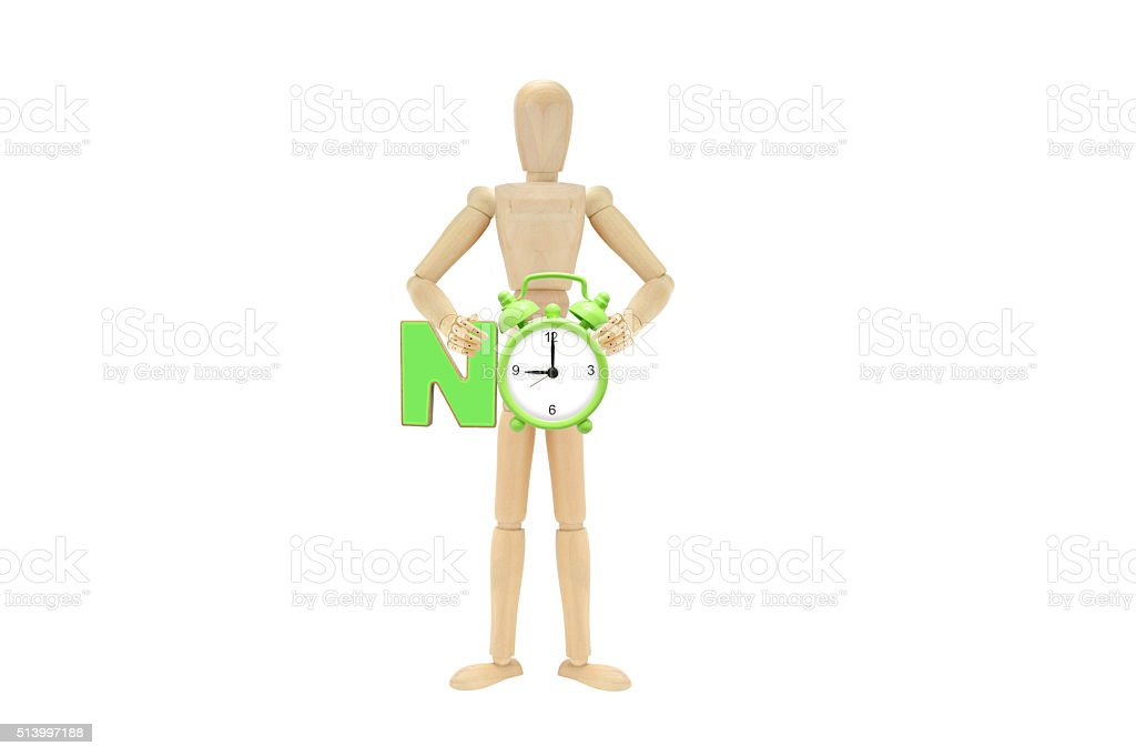 No Time Nine O'Clock Mannequin stock photo