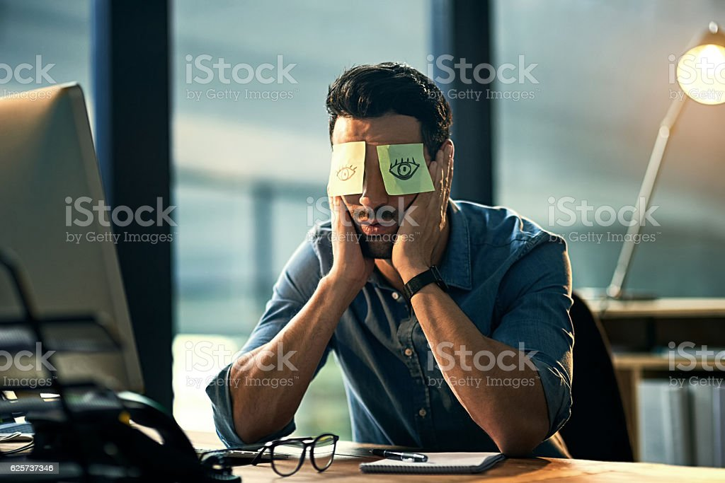 No time to sleep stock photo