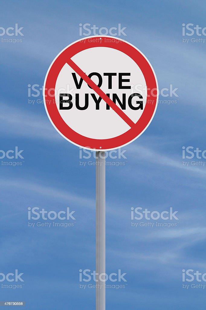 No to Vote Buying stock photo