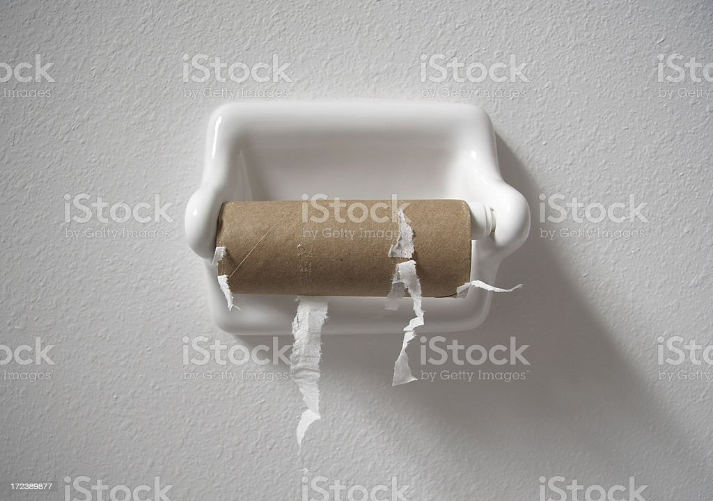 no toilet paper stock photo