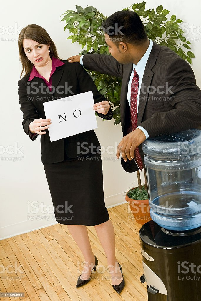 No Touching In The Office royalty-free stock photo