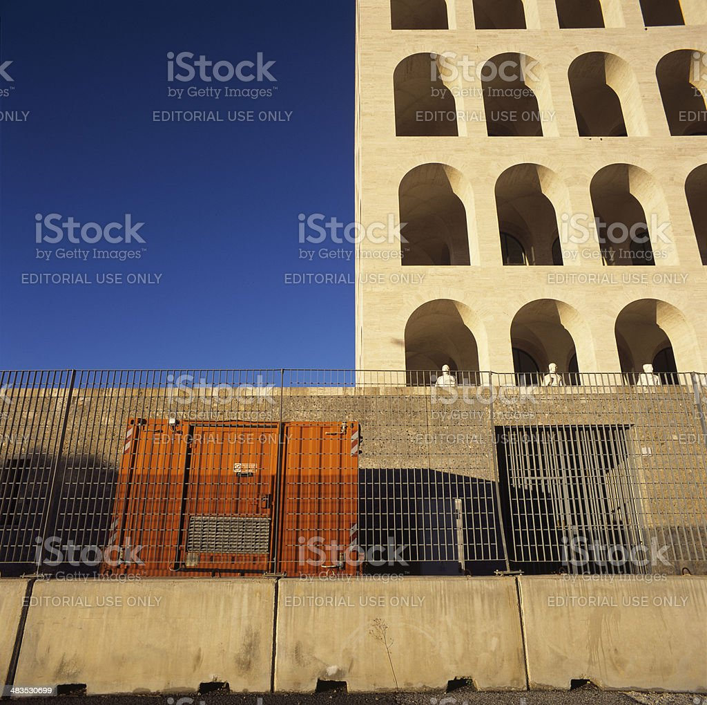No tourists allowed into Rome's landmark royalty-free stock photo