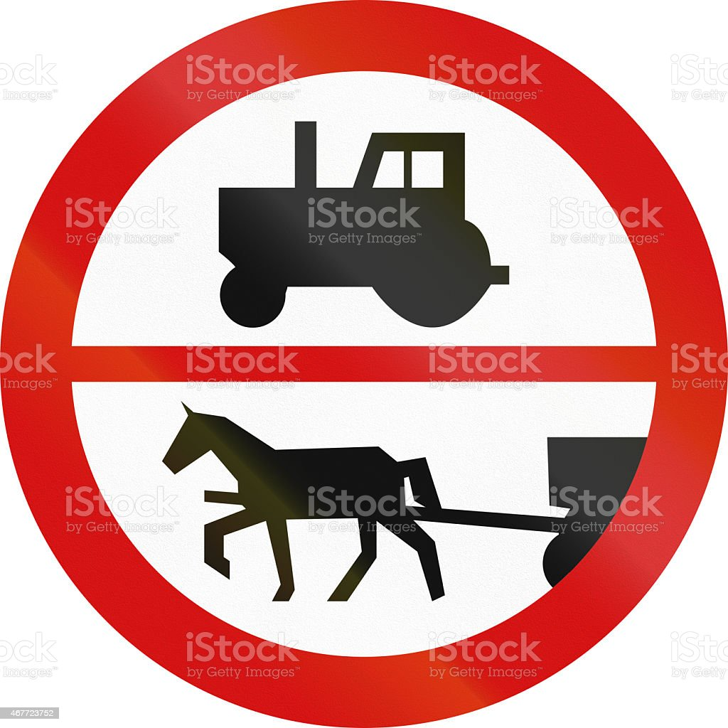 No Tractors Or Carriages In Poland stock photo