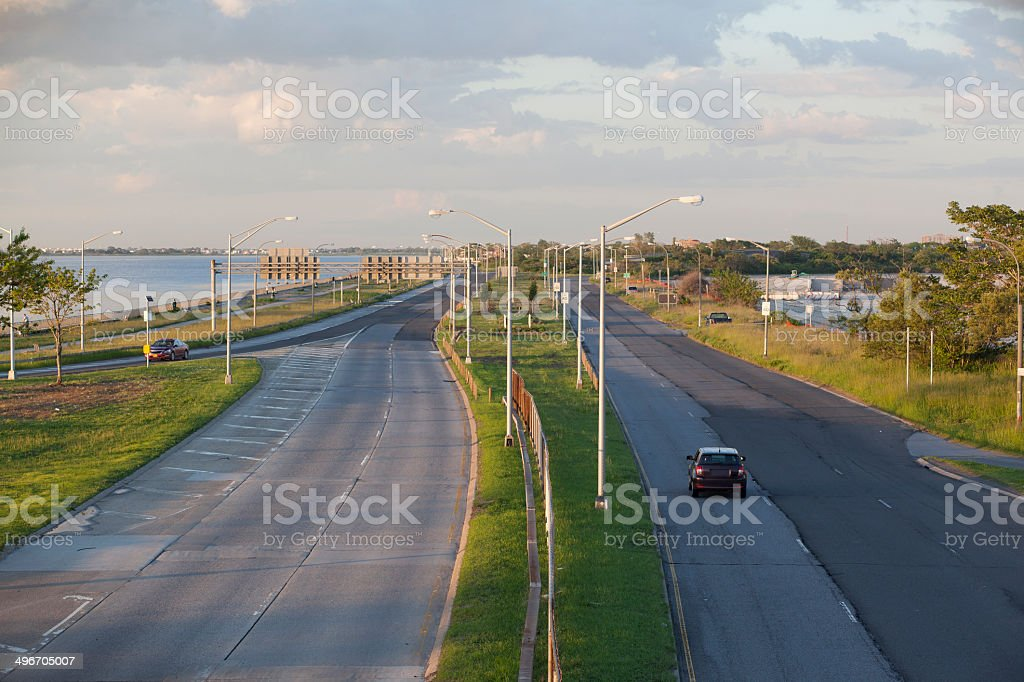 No  traffic on highway royalty-free stock photo