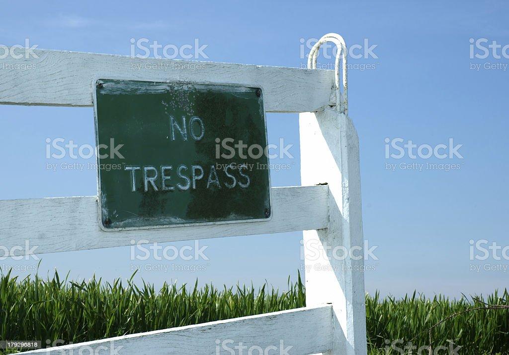 No Trespass royalty-free stock photo