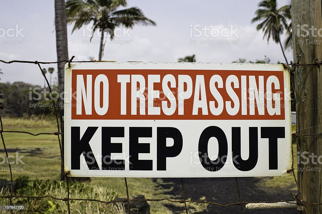 No Trespassing Keep Out Sign royalty-free stock photo