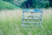 No trespassing on farmland near Walla Walla WA