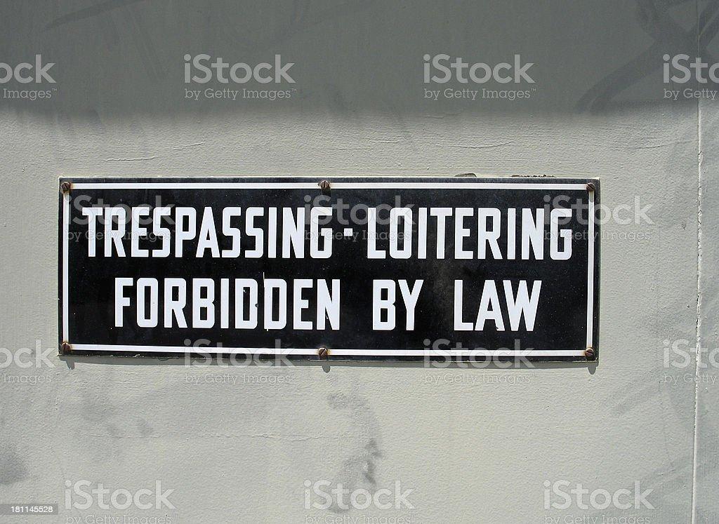 No Trespassing! stock photo