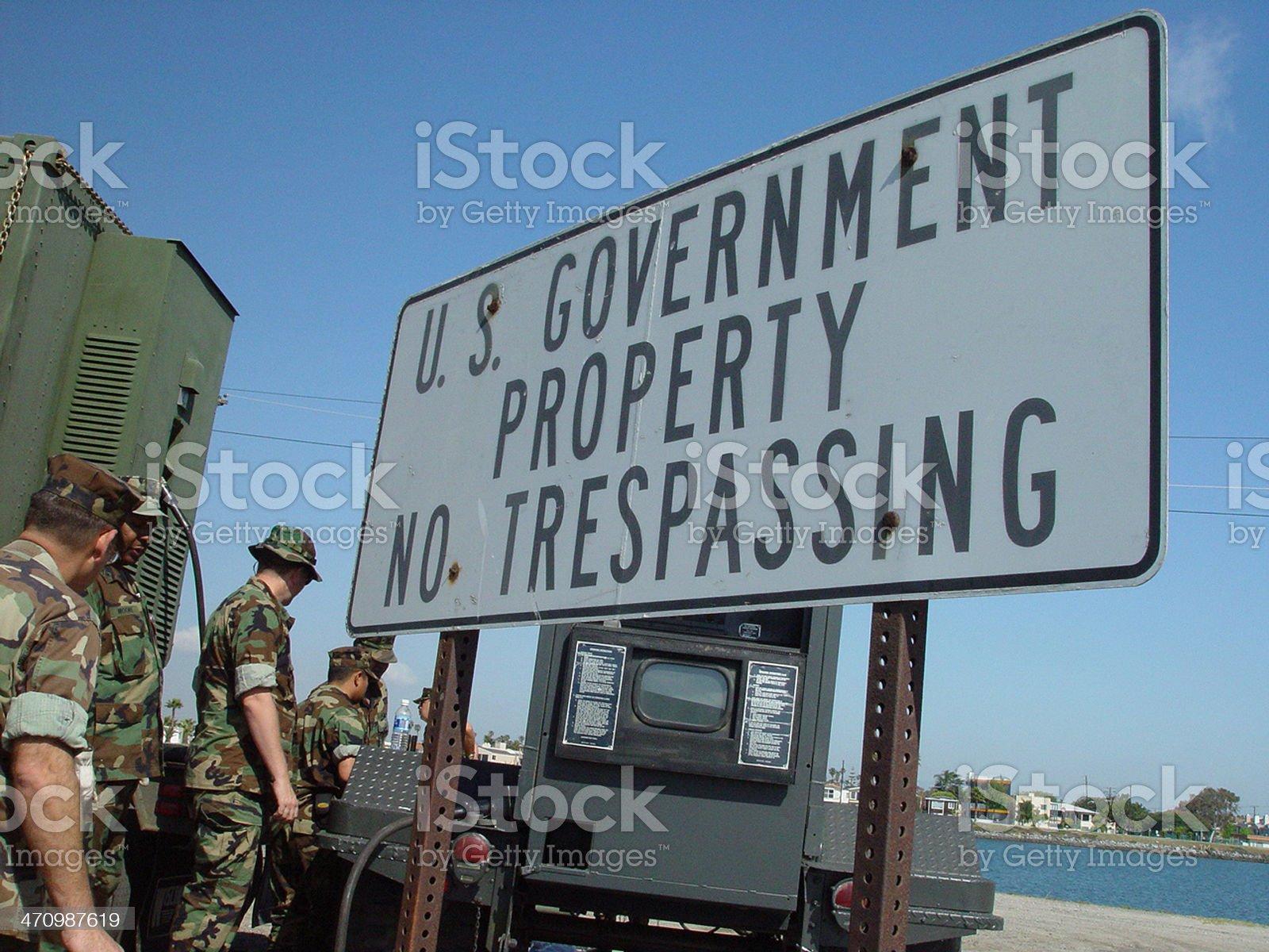 No trespassing royalty-free stock photo