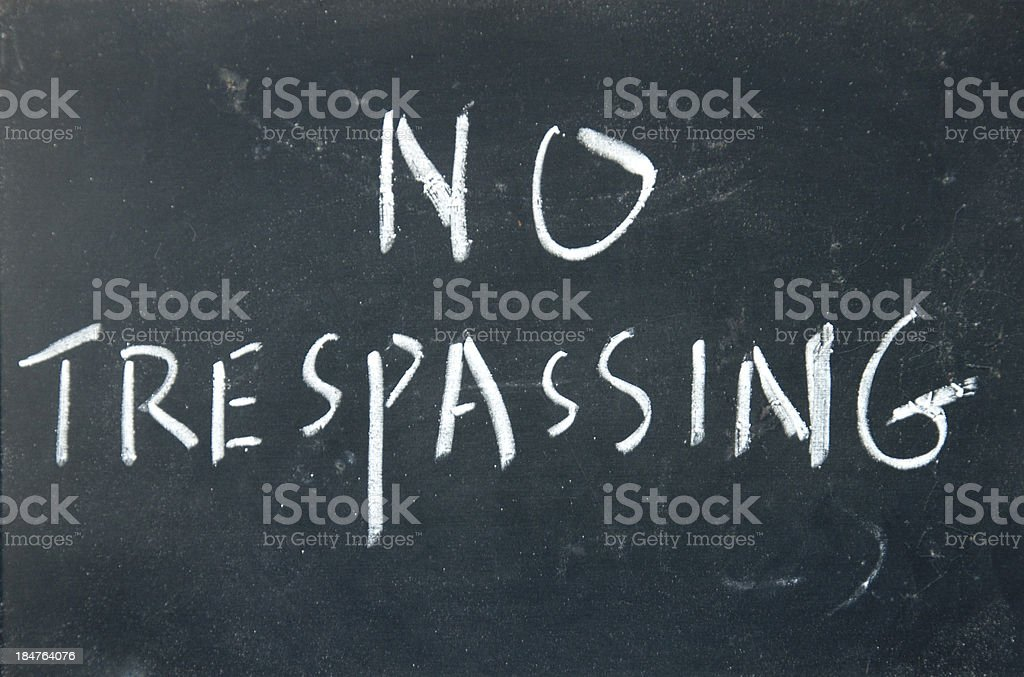 no trespassing sign royalty-free stock photo