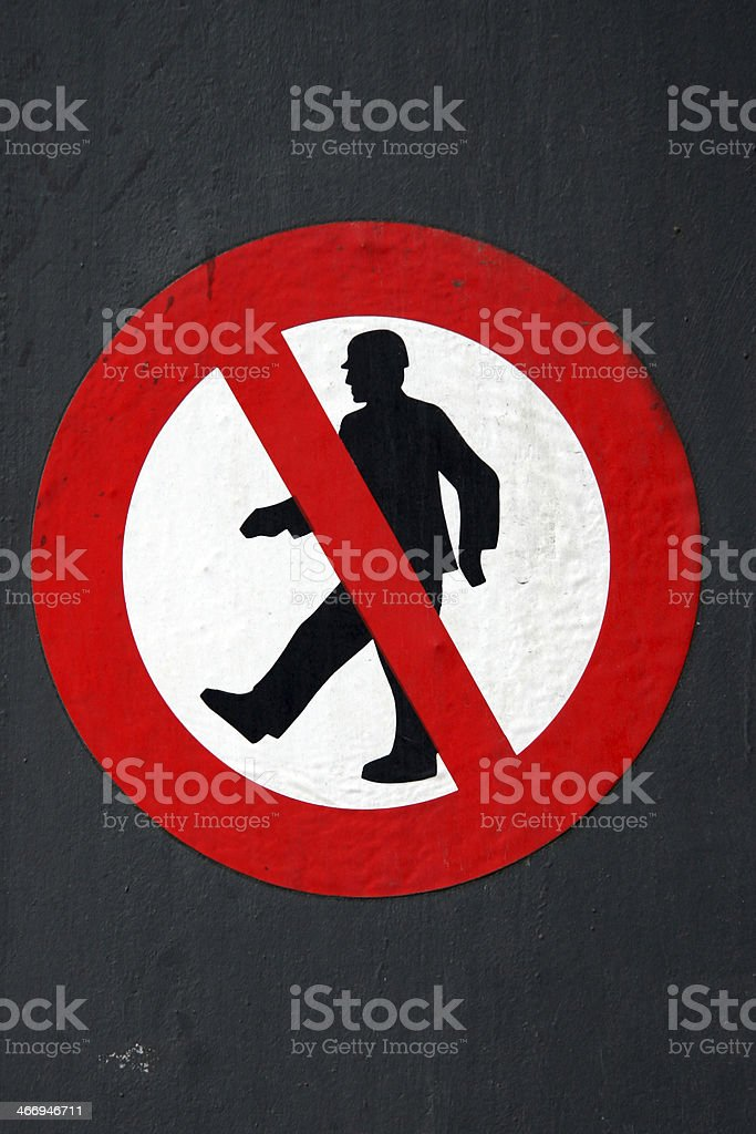 no trespassing sign royalty-free stock photo