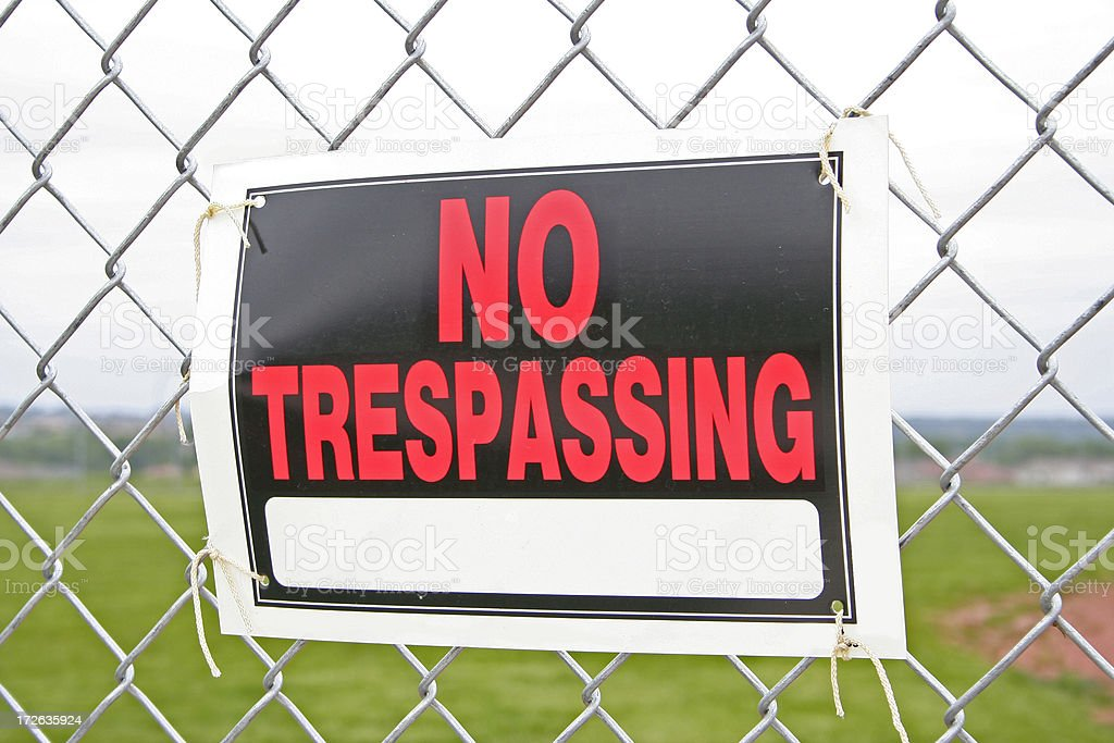 No Tresspassing stock photo
