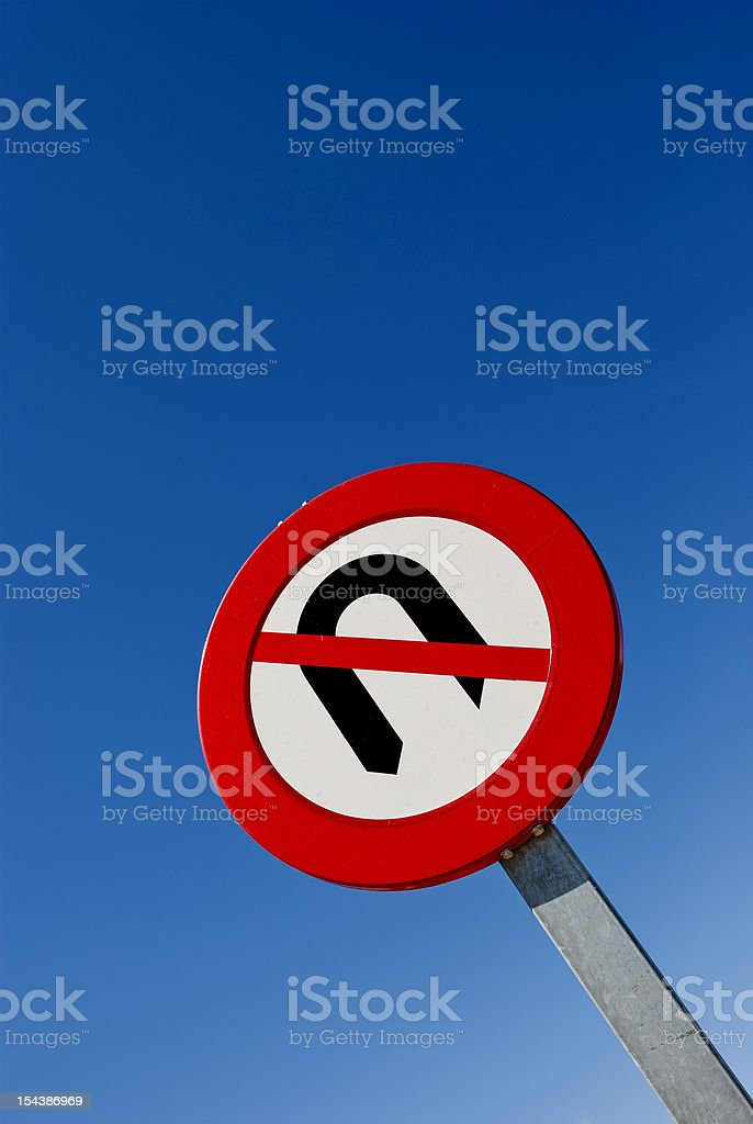No Turning Back. Sign of Commitment royalty-free stock photo