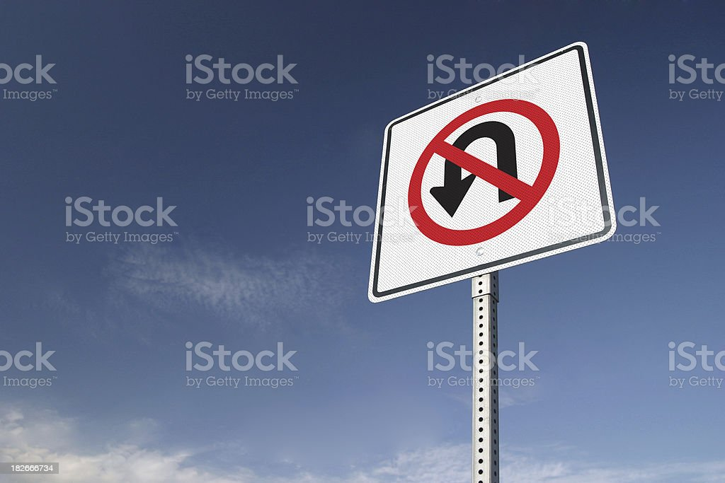 No Turning Back; Sign of Commitment stock photo