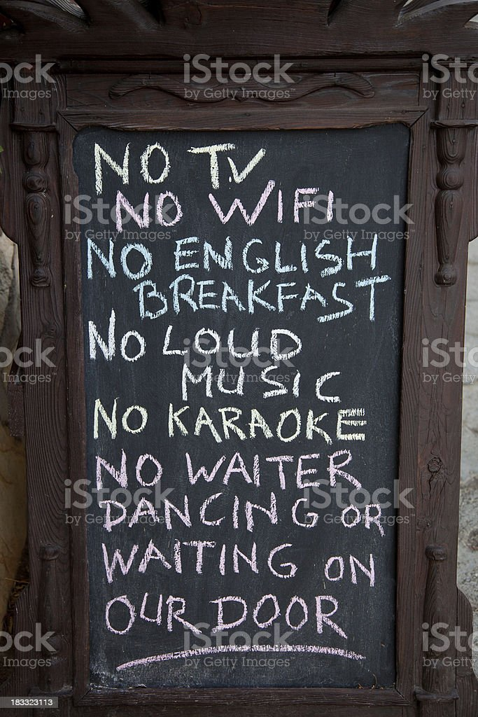 No Tv, wifi... royalty-free stock photo