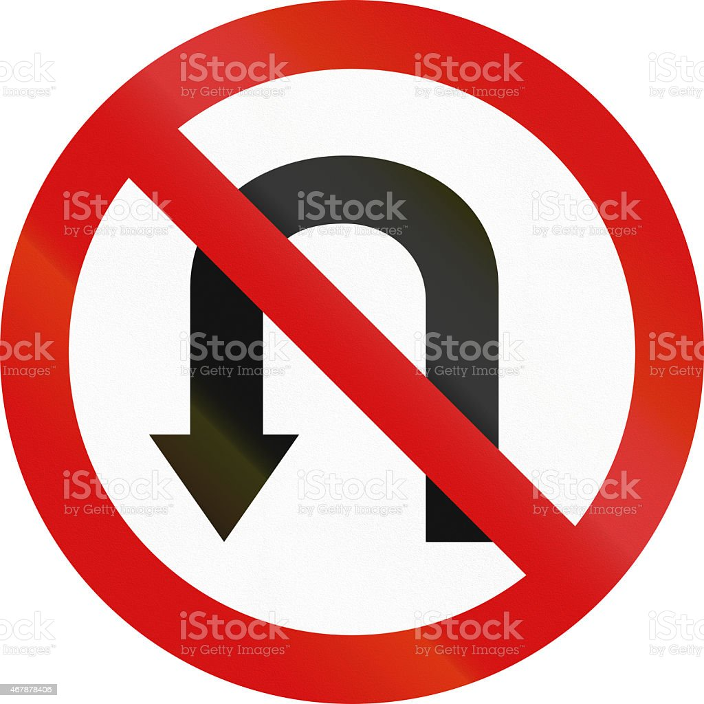 No U-Turn in Poland stock photo
