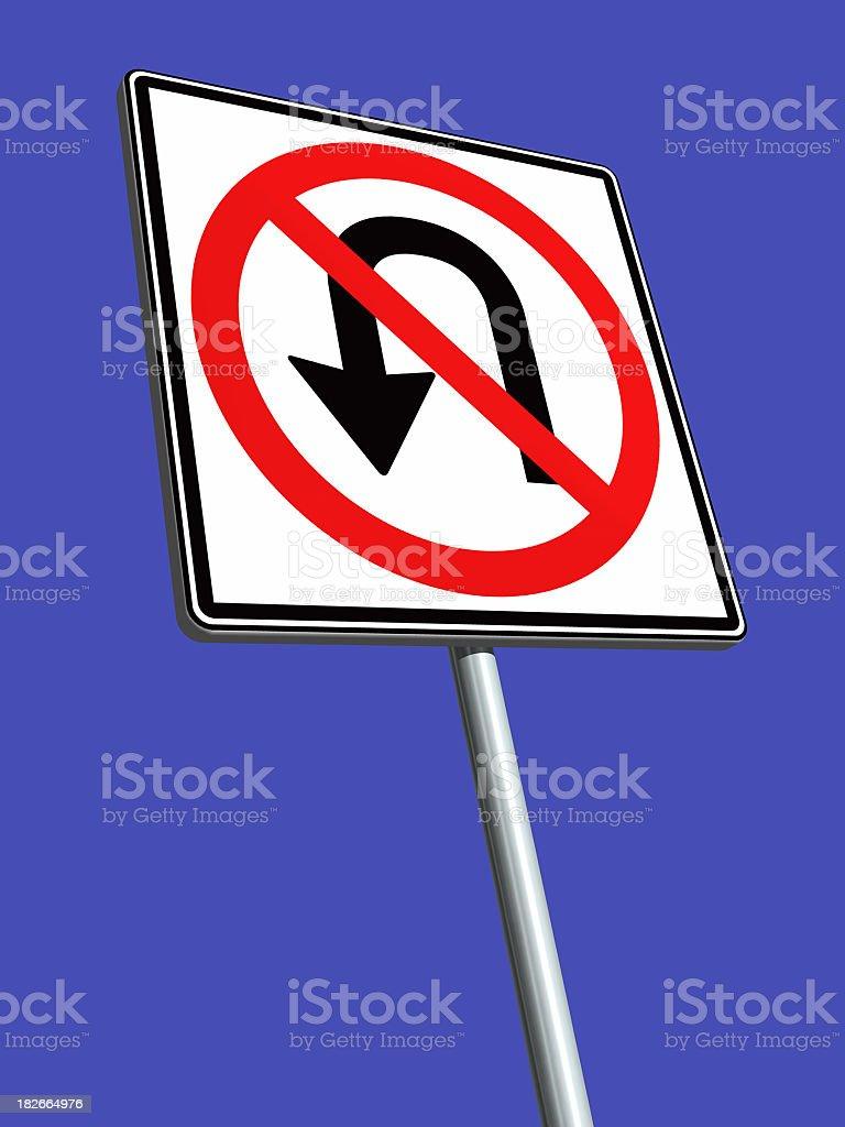 No U-Turn! royalty-free stock photo
