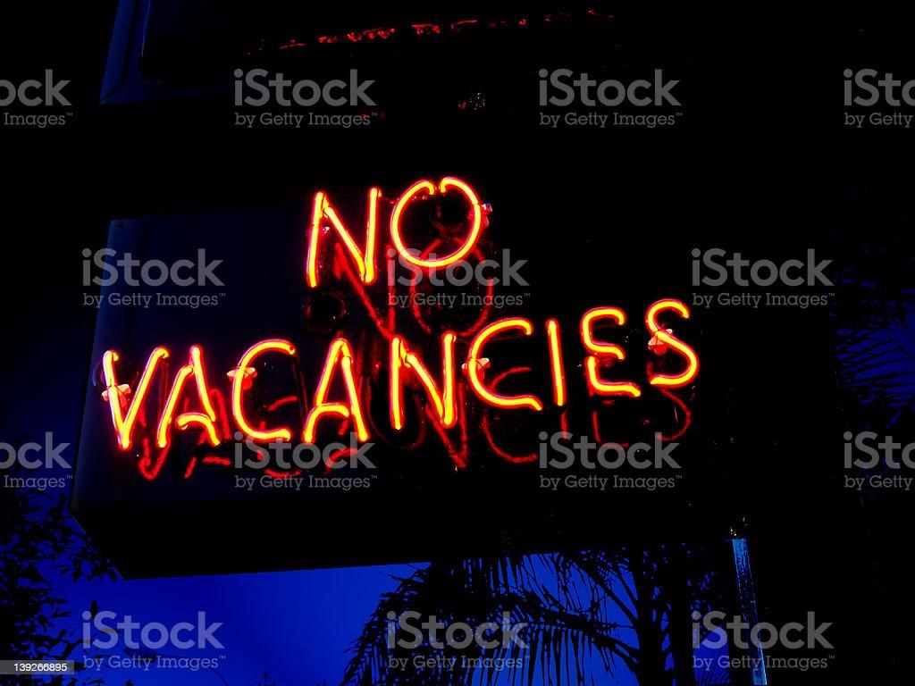 no vacancies royalty-free stock photo