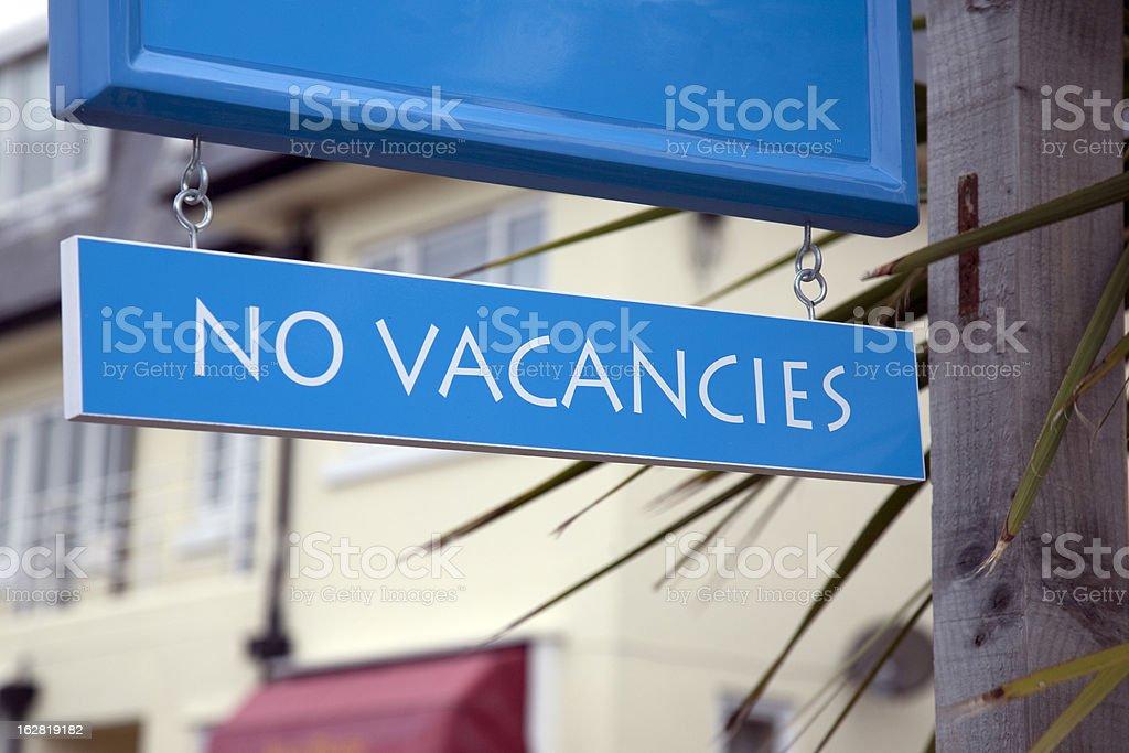No Vacancies Sign stock photo