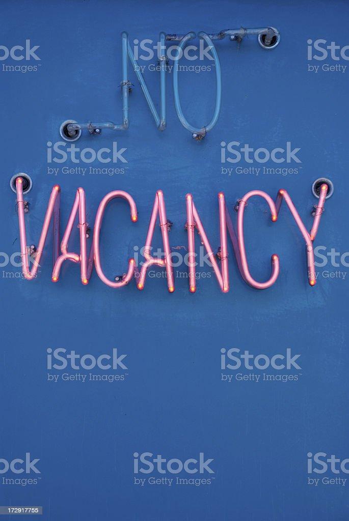 No Vacancy - Motel Sign stock photo