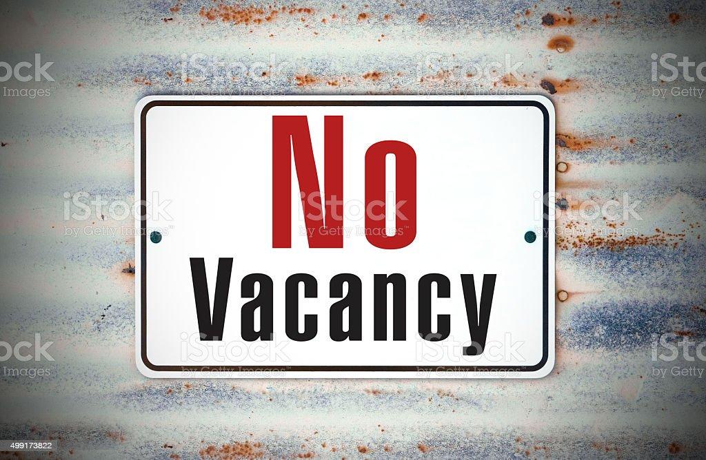 No Vacancy Sign stock photo