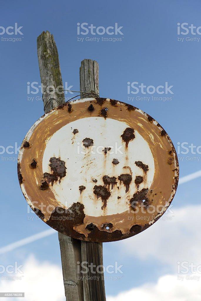 No Vehicles Traffic Sign stock photo