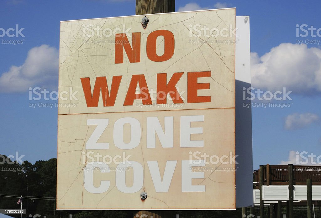 No Wake Zone royalty-free stock photo