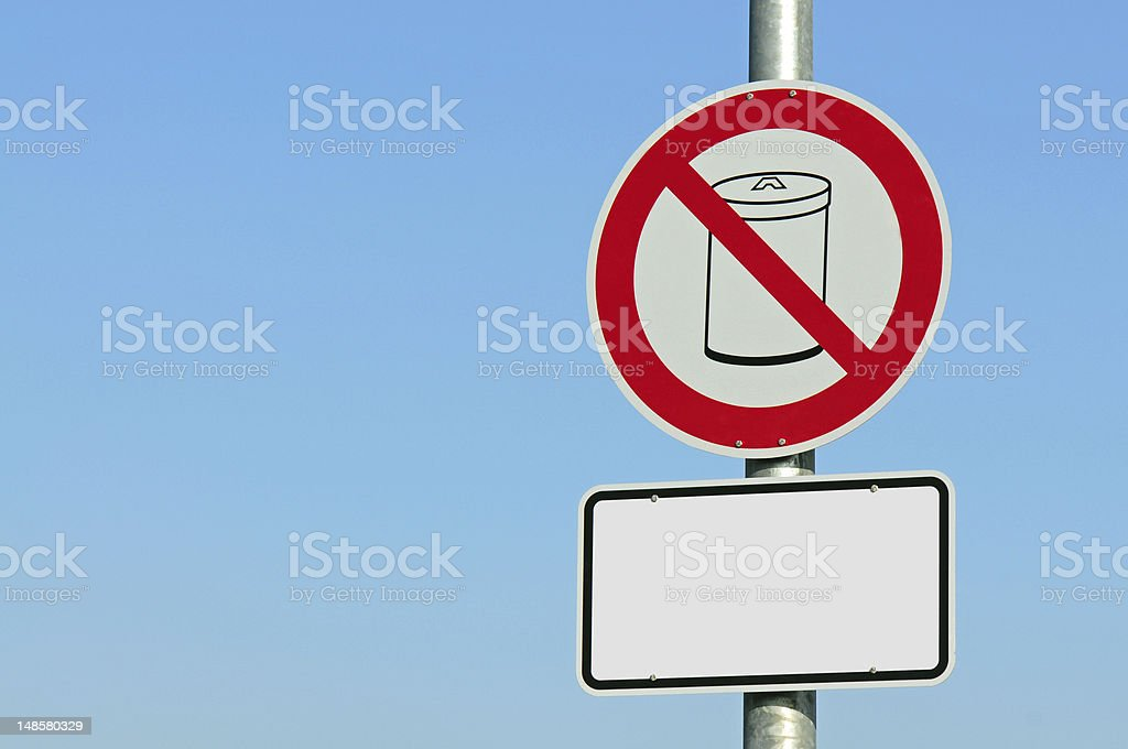 No waste container stock photo