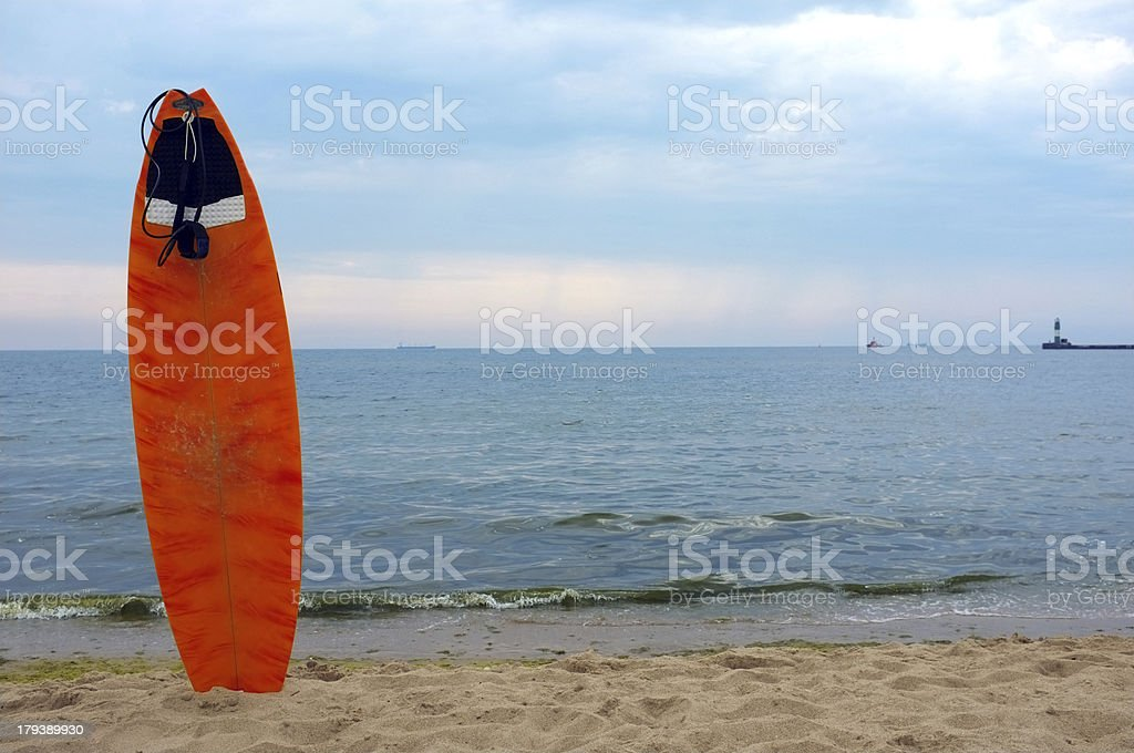no waves to surfing royalty-free stock photo